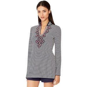 Tory Burch Katama Striped Sweater Tunic S